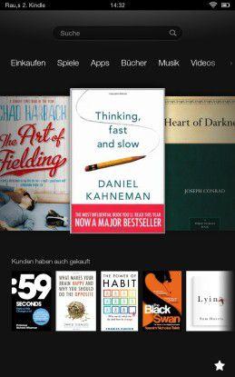 Die Benutzeroberfläche des Amazon Kindle Fire unterscheidet sich deutlich von den Android-Tablets