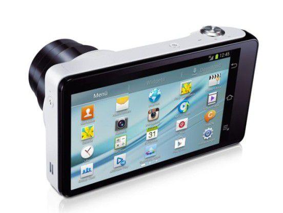 Die Samsung Galaxy Camera ist eine der ersten Digitalkameras mit dem Betriebssystem Android.