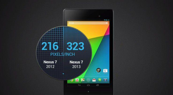Die hohe Pixeldichte des Nexus 7 (2013) überzeugt.