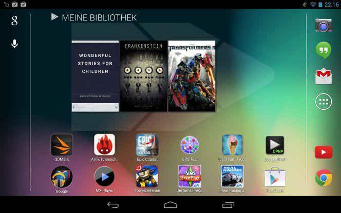Google liefert das Nexus 7 traditionell mit dem neusten verfügbaren Android aus.