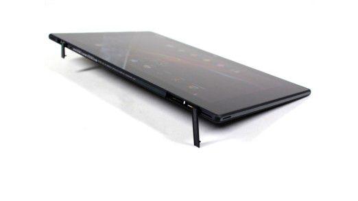 Dicht: Alle Anschlüsse sind durch Abdeckungen geschützt. Das Tablet ist nach IP55 und IP57 spezifiziert. Daher dürfen Sie mit dem Sony-Tablet auch baden gehen.