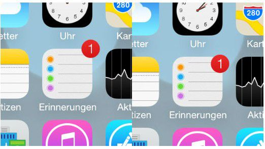 Verschieben sich Icons relativ zum Hintergrund, entsteht ein räumlicher Effekt.