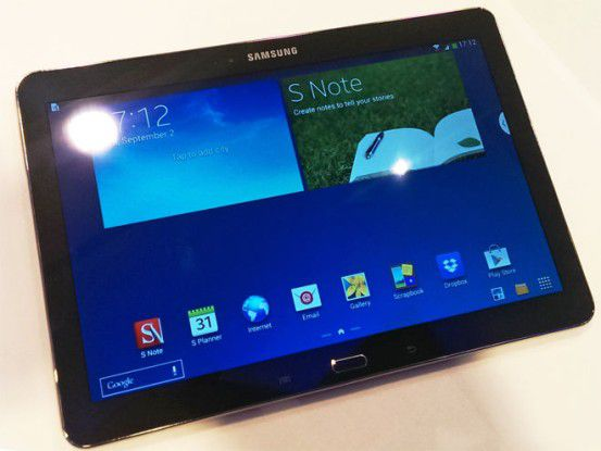 Das 2014er Galaxy Note 10.1 macht auf den ersten Blick einen wirklich guten Eindruck.