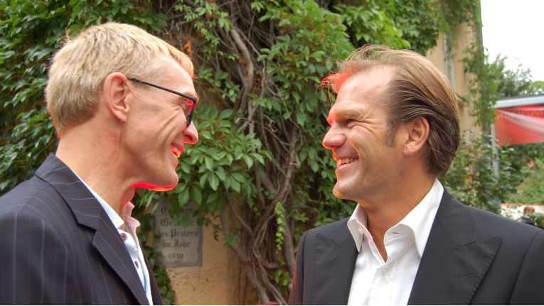 Achim Stiller (links) hier auf einer Ingram-Micro-Veranstaltung mit dem damaligen Ingram-Marketingleiter Peter Silberhorn.