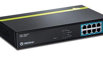 ...Trendnet TPE-T80H mit acht Ports ausgestattet.