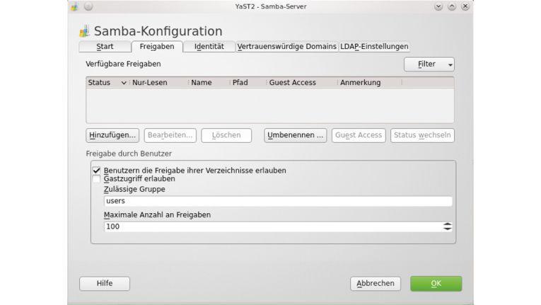 Dateiserver mit Linux aufbauen
