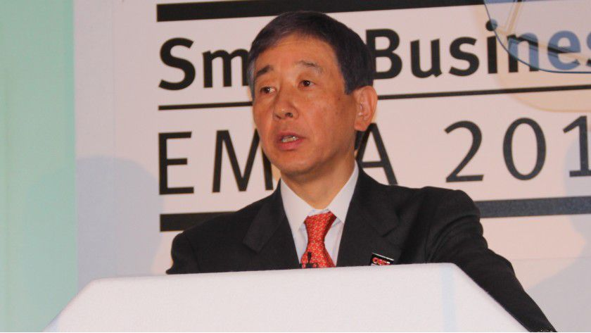 Takao Hiramoto, President der OKI Data Corporation, will Wachstum durch Diversifikation realisieren.