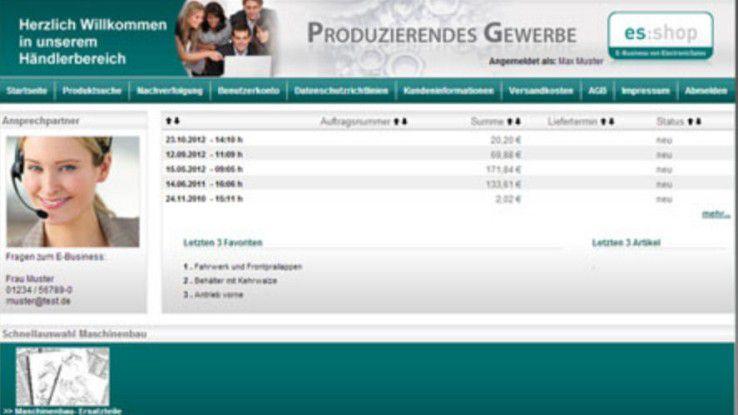 ElectronicSales B2B Portal