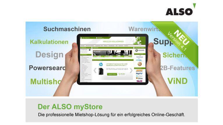 ITK-Distributor ALSO bietet seinen Fachhändlern eine komplette E-Commerce-Lösung zum Aufbau und Betrieb des eigenen Webshops auf Mietbasis: den ALSO myStore.