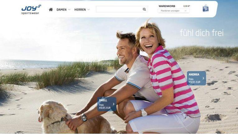 Als Markenhersteller wollte Joy Sportswear einen eigenen Webshop betreiben