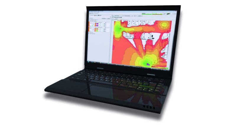 Bei der professionellen Ausleichtung ist auf der Heatmap ersichtlich, wo die Access Points platziert werden müssen, um eine optimale WLAN-Ausleuchtung zu erreichen.