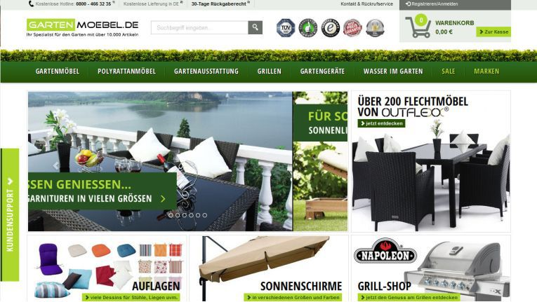 Der Relaunch von www.gartenmoebel.de stand ganz im Zeichen der optischen Neugestaltung.