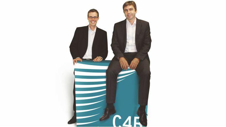 Die Entwicklung des Partner-Netzwerks steht für den UC-Spezialisten weiterhin im Fokus. So habe sich die Zahl der Vertriebspartner seit 2009 verfünffacht, freuen sich die beiden Vorstände der C4B Com For Business AG Michael Schreier (links) und Bernd Woköck.