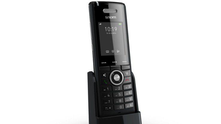 Snom M65: Netzwerk von bis zu 200 Handsets in Kombination mit Basisstationen möglich.