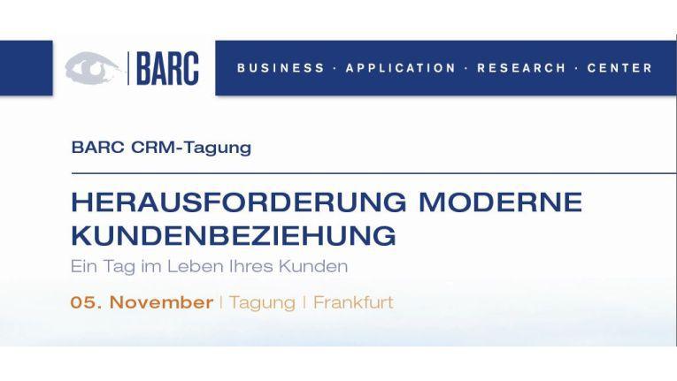 Eine pralle Agenda rund um die Kundenbeziehung der Zukunft sowie die Ergebnisse der Umfrage, präsentiert BARC am 05. November 2014 am Frankfurter Flughafen.