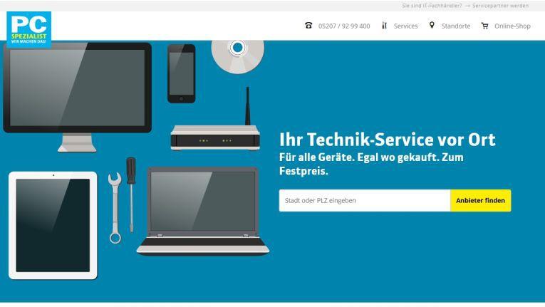 Service ist beim neuen Webauftritt von PC-Spezialist das klare Thema Nr. 1
