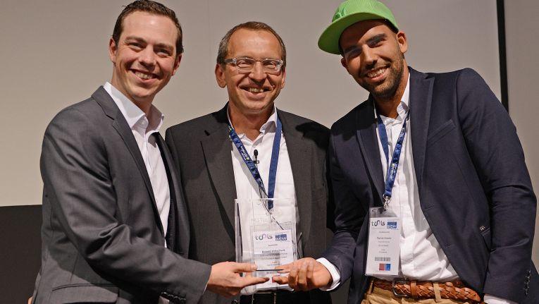 Glenn Martinez, Sage Pay; Ronald Wiltscheck, ChannelPartner und Patrick Niesler, AC Surfpaket.
