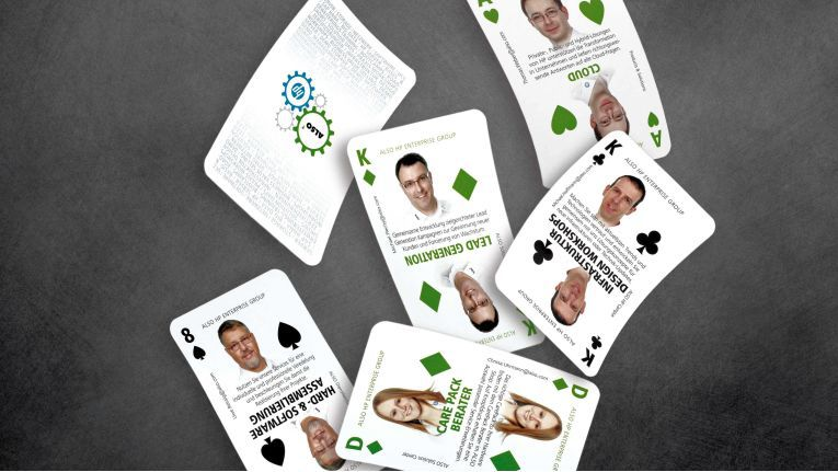 """""""So wie Karten sich klug kombinieren lassen, können auch unsere Produkte, Lösungen und Services rund um das HP-Enterprise-Geschäft zu einem Gewinnerblatt zusammengefügt werden"""", erläutert Simone Blome, Leiterin der Abteilung HP Enterprise bei Also, die Kampagne."""