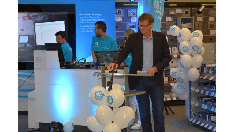 Conrad-CEO Jörn Werner beim Start der neuen Online-Community der Elektronikkette