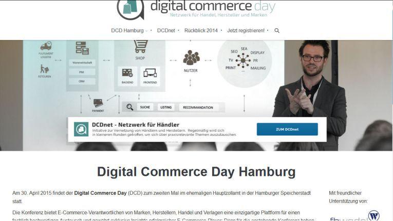 """Der Digital Commerce Day (DLD) findet in Kooperation mit dem """"Best in eCommerce""""-Wettbewerb statt."""
