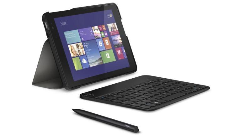 Dell Venue Pro 11 7000 Serie: hier ein Tablet mit Zusatztastatur und Stift.
