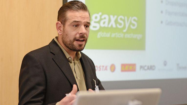 """Philipp Kannenberg, Mitglied der Geschäftsleitung bei der gaxsys GmbH: """"Wir glauben auf der TradeWorld den Zahn der Zeit zu treffen""""."""