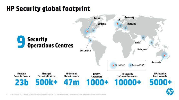 Die HP-Sicherheitsorganisation ist global aufgestellt.