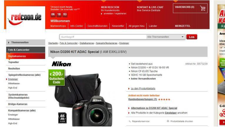 Nikon-Kameraset: Erst Preisfehler, dann im Redcoon-Shop ausverkauft, jetzt bei eBay als Wow!-Angebot
