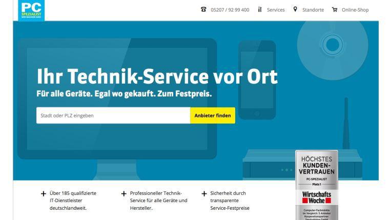 Dienstleistung im Mittelpunkt: Die neue Webseite von PC-Spezialist