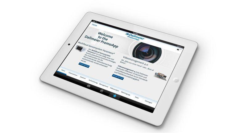 Bietet Infos zum Thema Videoüberwachung: Dallmeier PromoApp für Desktop, iOS und Android