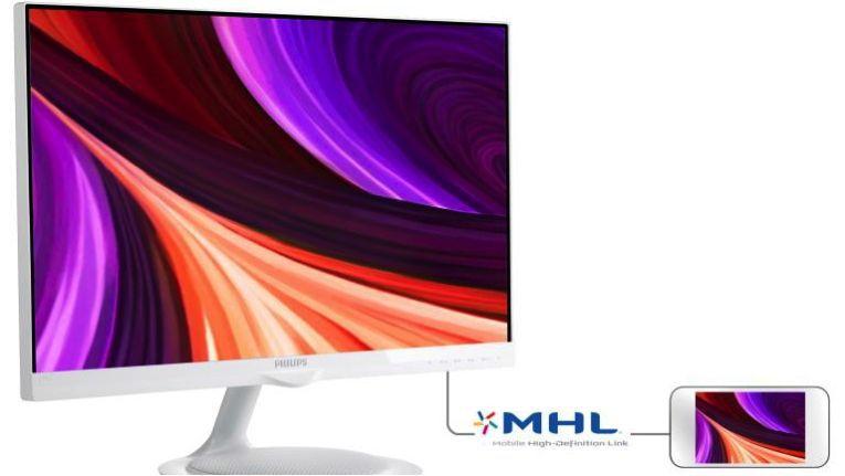 Philips Moda 2 / 275C5QHAW: Inklusive MHL-Anschluss für mobile Geräte.