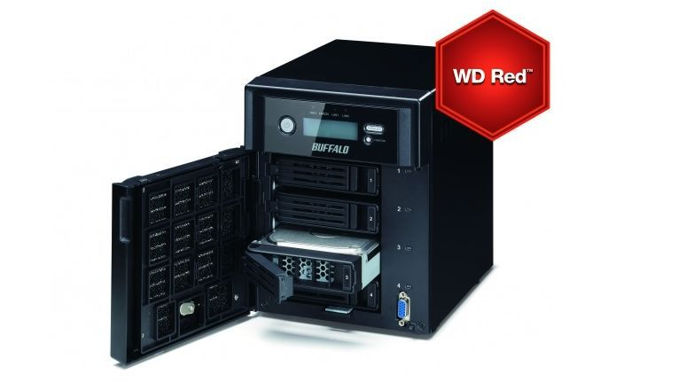 Buffalo TeraStation 5400: Hersteller hebt integrierte WD Red Festplatten hervor.