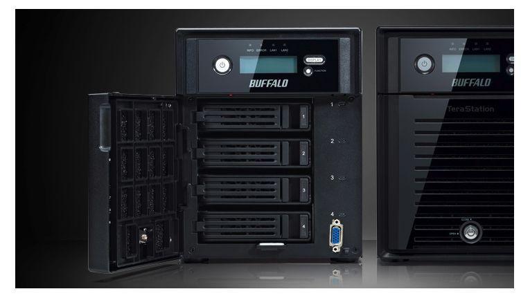 Buffalo TeraStation 5400: unterstützt Active Directory, IP-Bilder und iSCSI-Targets.