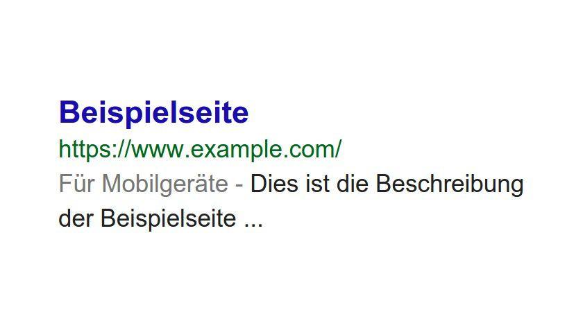 Belohnung für mobile-friendly Seiten: ein Hinweis in den Google-Suchergebnissen