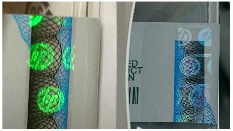 """""""KP"""" statt """"HP"""": die (gefälschten) SFP-Module, links das Original, rechts die Fälschung."""