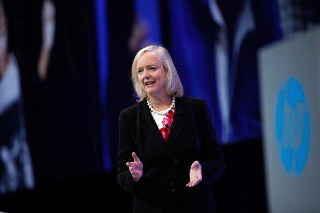Meg Whitman, CEO von HP Enterprise, liegt mit ihren Ergebnissen weitgehend im Plan.