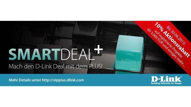"""Unter dem Motto """"Mach den D-Link Deal mit dem Plus!"""" bietet D-Link seinen Fachhändlern zusätzliche Marge bei angemeldeten Projekten plus weitere Extras bei mindestens 3.000 Euro Warenwert."""