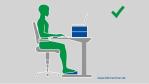 Hilfe durch blitzrechner.de: Richtig sitzen am Schreibtisch - Foto: blitzrechner.de