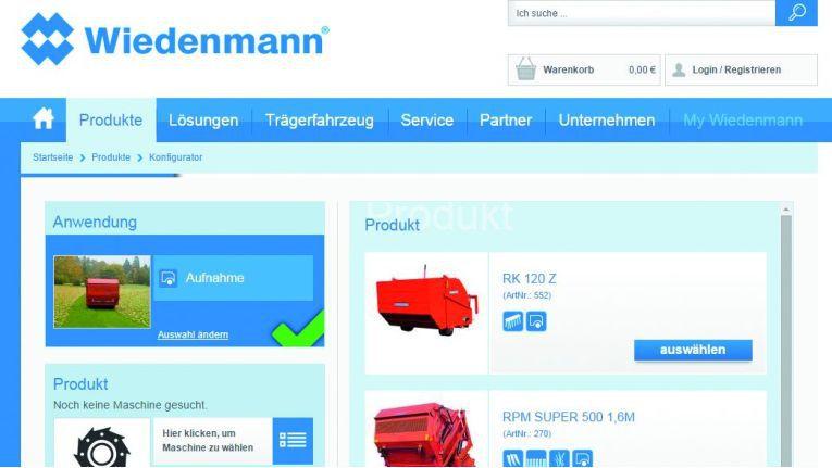 Der Online-Konfigurator ist eines der zahlreichen Features, die nach dem Relaunch des Online-Shops von Wiedenmann zur Verfügung stehen.