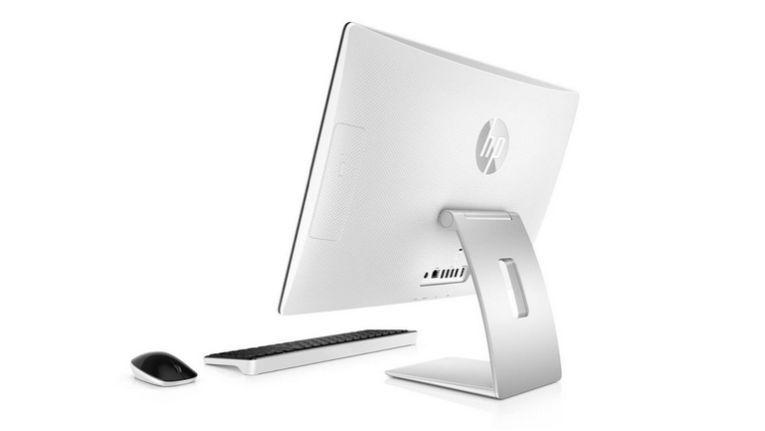 HP Pavilion AiO: Zielgruppe und Geräterrückseite erinnern an Apple-Konzept.