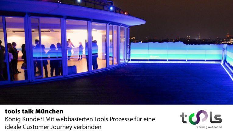 Über den Dächern von München in der Panorama-Lounge des Schweizerischen Generalkonsulats findet am 12. Mai der dritte tools talk statt.