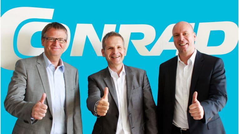 Geordnete Stabübergabe (v.l.): Der zu A.T.U gewechselte Jörn Werner, Verwaltungsratschef Werner Conrad und CEO Holger Ruban