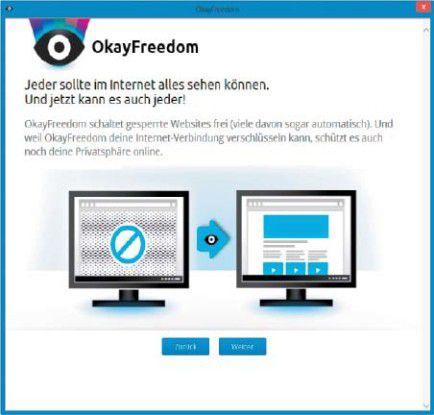 Dank einer ausländischen IP-Adresse sind Sie mit Okayfreedom VPN anonym im Internet unterwegs.