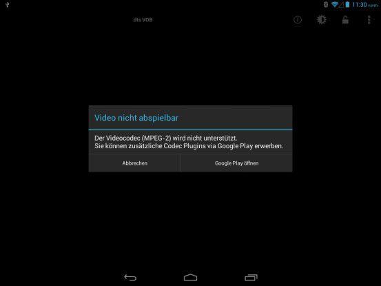 Mit einem zusätzlichen Codec-Pack kann das Archos 798 Xenon mehr Videoformate wiedergeben