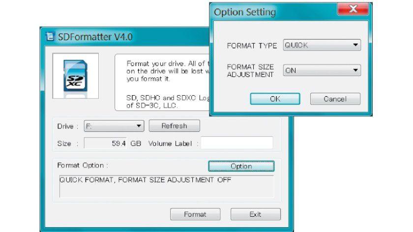 SD-Karte formatieren: Damit Noobs von der SDKarte bootet, bereiten Sie die Karte unter Windows mit dem Tool SD Formatter vor. Setzen Sie die Optionen, wie in der Abbildung zu sehen. Danach kopieren Sie Noobs auf die SD-Karte.