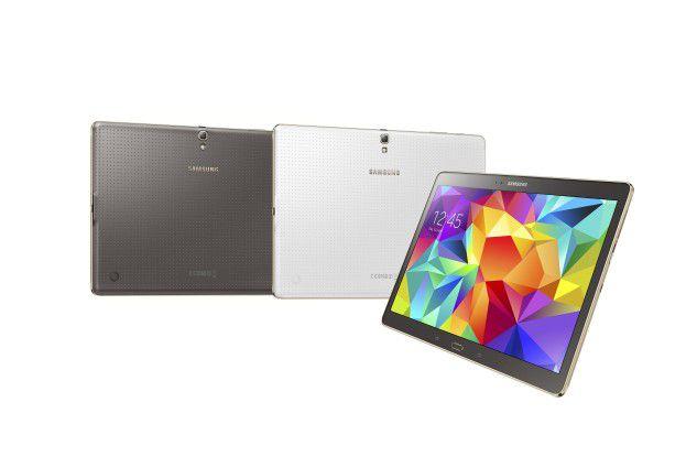 Das Samsung Galaxy Tab S wird im Juli in den beiden Farben Titanium Bronze und Dazzling White.