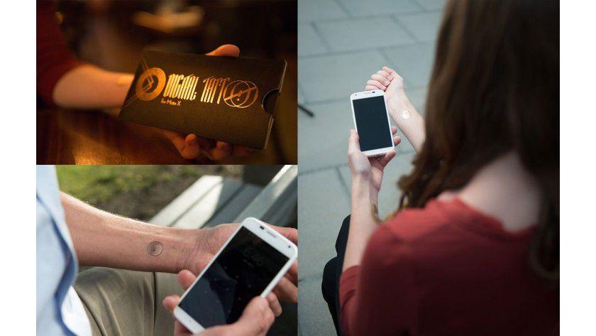 Digitales Tattoo: Statt PIN lässt sich ein Smartphone mit dioeser Lösung per Tattoo entsperren.