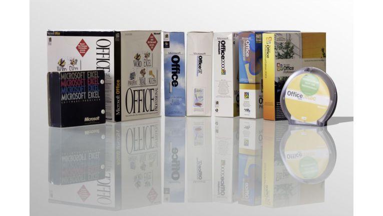 Mittlerweile Sammlerstücke: Die verschiedenen Office-Versionen