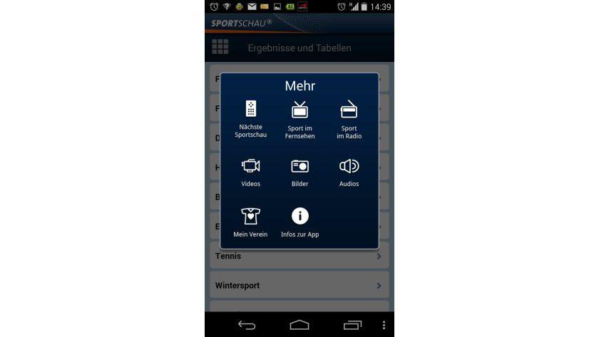 Die Sportschau-App entpuppt sich als multimediales Element.