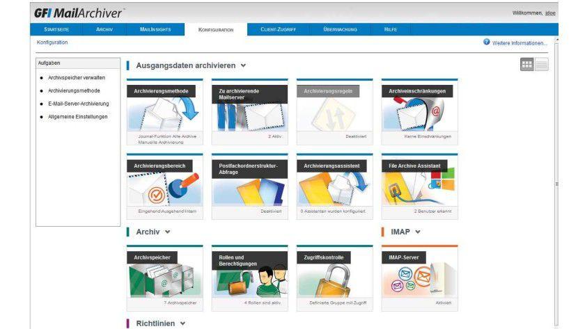 GFI Mail Archiver: Mit neuen Zusatzfunktionen via Outlook und Web-Konsole.